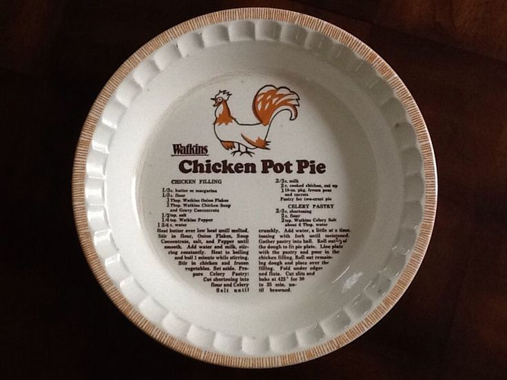 WATKINS Chicken Pot Pie Plate & 38 best Food- Dishes...Pie Plates images on Pinterest | Food dishes ...