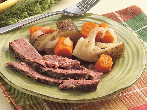For those looking to get their Irish on, but no clue how to go about it....corned beef.  Throw in your cut up cabbage about the last hour of cook time.  *and there is a packet of spices in the brisket to use instead of those listed here.