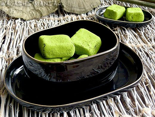 raw matcha chocolate can be used for filling wagashi.