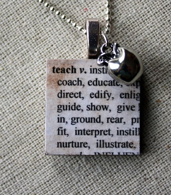 Beds 13 pinterest teach defined wooden tile necklace with silver apple charm on stainless steel chain great teacher mozeypictures Gallery