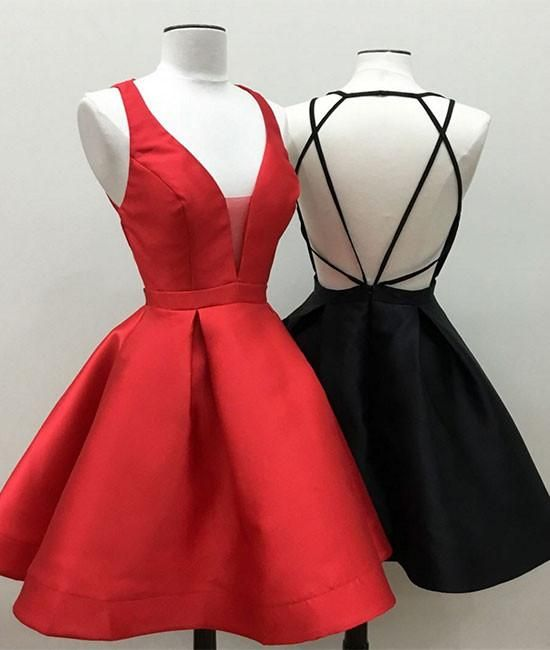 sexy homecoming dresses, A-line homecoming dresses, backless homecoming dresses, red homecoming dresses, little black dresses, short prom dresses, formal dresses, party dresses, cocktail dresses#SIMIBridal #homecomingdresses