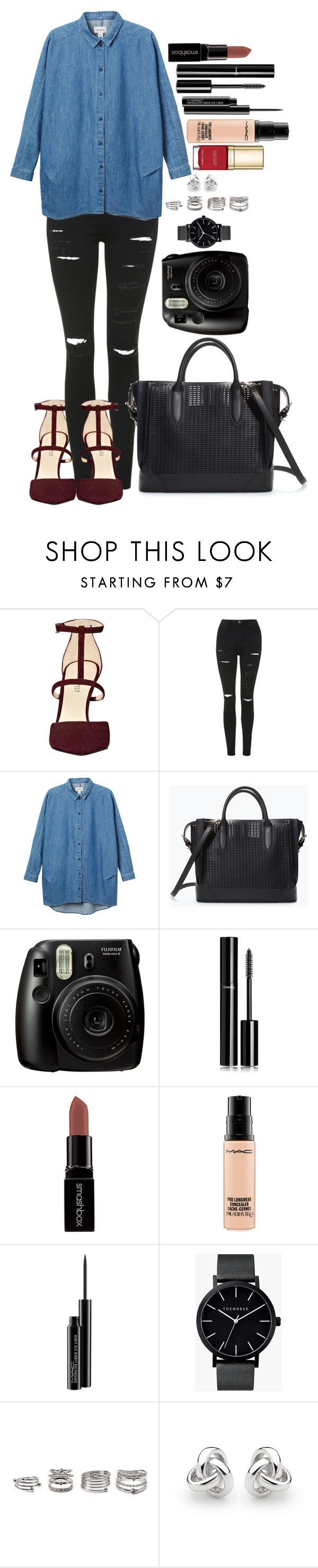 """Untitled #1395"" by fabianarveloc on Polyvore featuring Nine West, Topshop, Monki, Zara, Chanel, Smashbox, MAC Cosmetics, The Horse, Forever 21 and Georgini"