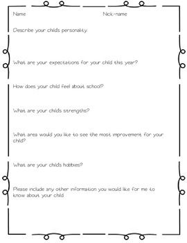WELCOME PACKET {OPEN HOUSE FORMS} - TeachersPayTeachers.com