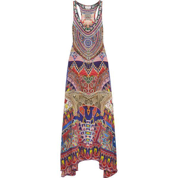 Black multi colour stripe corsage maxi dress
