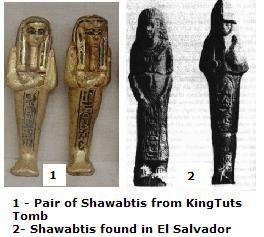 Acajutla Statues, Egyptian shawabti