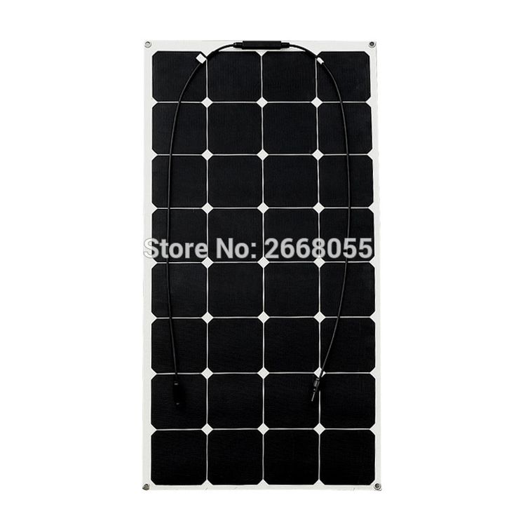 100W flexible solar panel for solar powered fishing boats backside connection for 12V solar panel module battery solar charger. #CLICK! #clothing, #shoes, #jewelry, #women, #men