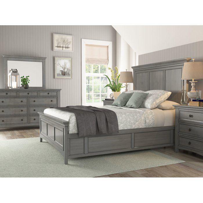 Joplin Queen Standard Configurable Bedroom Set Wood Platform Bed
