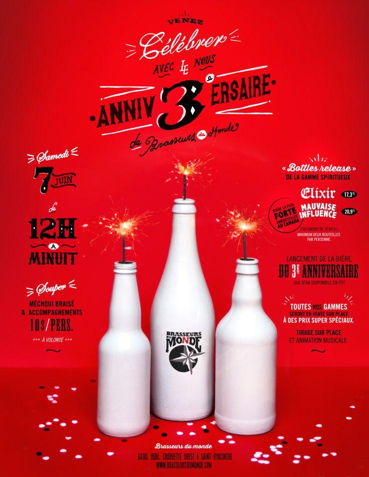 Bottle release: 3 ème anniversaire de Brasseurs du monde