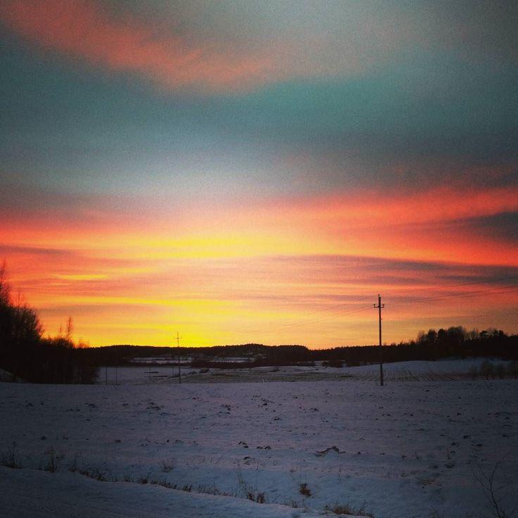 Tänään taivas oli liekeissä  #sunset #auringonlasku #iltarusko #awesome #pretty #beautiful #instasky #skyporn #field #pelto #iseeorange #natureswonder #nature #livinginthecountryside #igfinland #thisisfinland #igscandinavia #visitscandinavia #picoftheday #photooftheday #tagsagram4tags