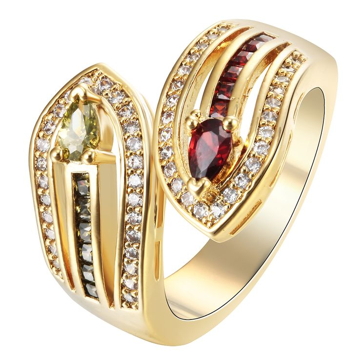 snake ring Gold plated luxury gift for women drop shipping created topaz cz zircon golden princess wedding sword RINGS JEWELLERY
