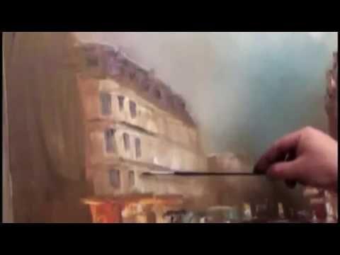 Igor Sakharov. Pluvieux Paris. Technique unique. - YouTube