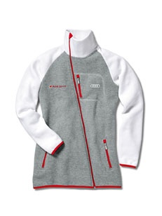 Women's Audi Sport sweat jacket Colour: light grey/white.    Available from: http://www.m25audi.co.uk