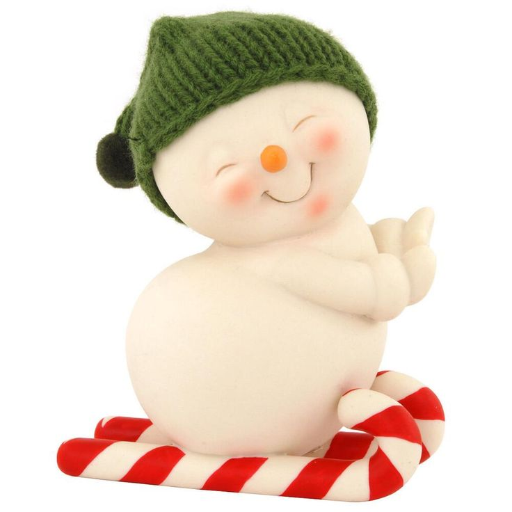 Snowpinions With Candy Cane Skis Figure $18.50