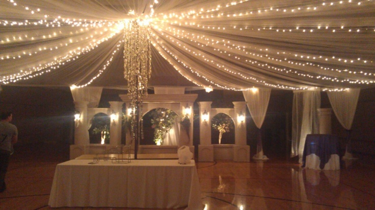Stunner Chandelier And Tuscan Backdrop In Lds Cultural
