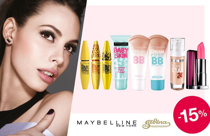 #Maybelline 15% скидки до конца месяца. #ILoveSabina #SabinaBaku
