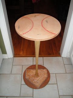 Love On The Inside: Baseball Bat Table