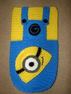 Looking for crocheting project inspiration? Check out Minion Snuggle Sack Cocoon & Hat by member Crochet By Kay.
