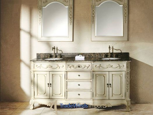 The 72  Cansano Double Sink Vanity is sure to brighten up any master bathroom. 1000  images about French Provincial Bathroom Vanities on