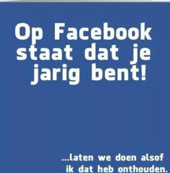 Facebook zegt je bent jarig