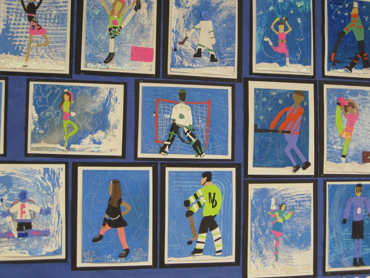Ice Skaters in motion collage