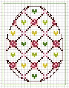 Easter egg cross stitch