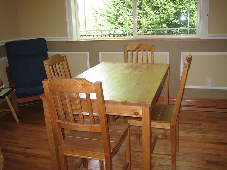 Simple Wooden Kitchen Table And Chairs Windows Wood Kitchentable