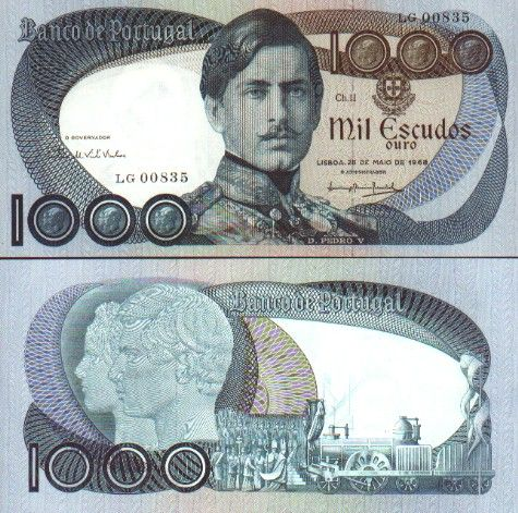 portugal currency | Portugal - Portuguese Escudo Currency Bank Note Image Gallery ...