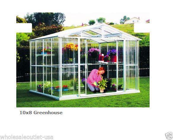 Duramax Greenhouse X Metal Kit  Outdoor Garden House/ Flower House 80311