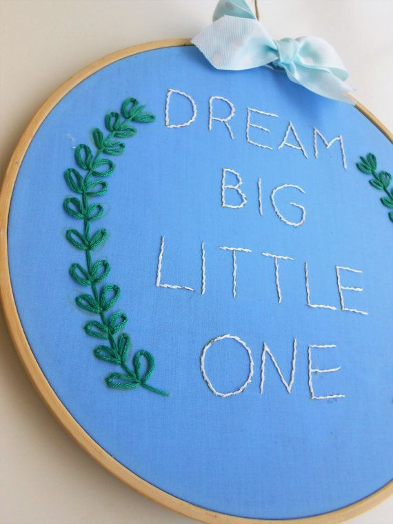 baby embroidery hoop art nursery gift baby wall by CottonCraftArt