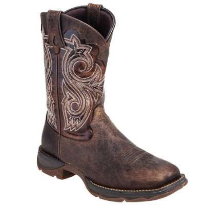 Durango Boots: Women's RD3315 Steel Toe EH Square Toe Cowboy Boots