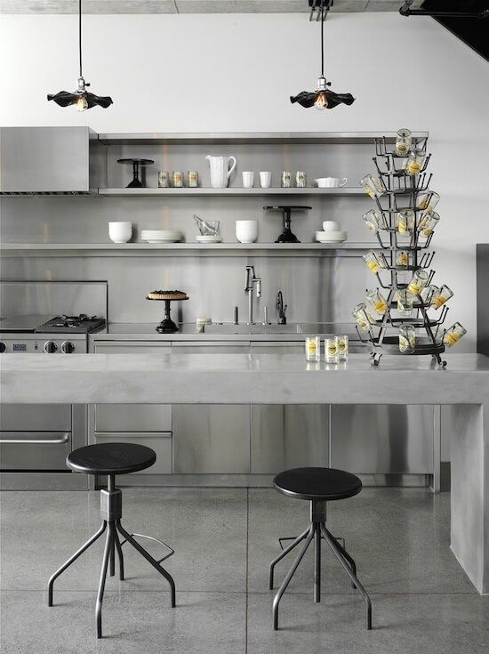will concrete cabinetry bring more strength to the kitchen?   @meccinteriors   design bites