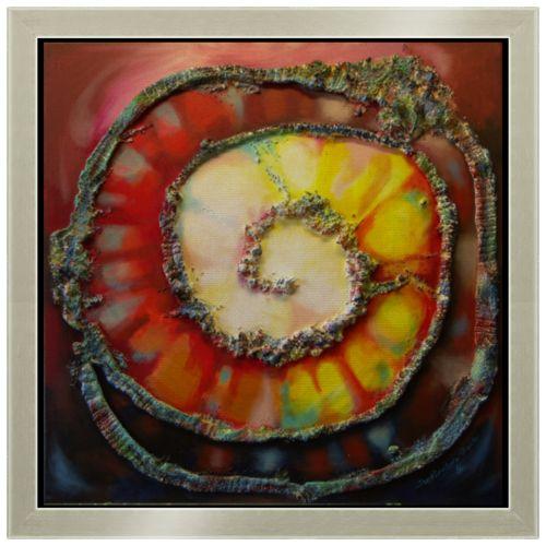 """Философское полотно. Холст 30x30 """"Spiral of life"""" от theirenemen"""