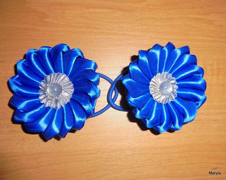 Hobby - Moje rękodzieło / ozdobna gumka do włosów / kazanshi // Hobby - My crafts / decorative elastic hair / Kanzashi