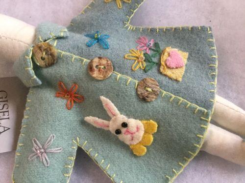 Embroidered Felt Coat Gisela Graham Easter Bunny Rabbit Hanging Decoration | Other Celebrations & Occasions | Celebrations & Occasions - Zeppy.io