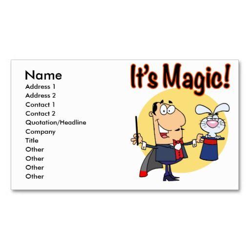 209 best magician business cards images on pinterest. Black Bedroom Furniture Sets. Home Design Ideas