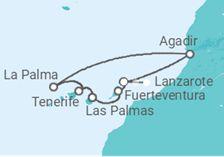 Itinerario del Crucero Islas Canarias y Marruecos - Pullmantur