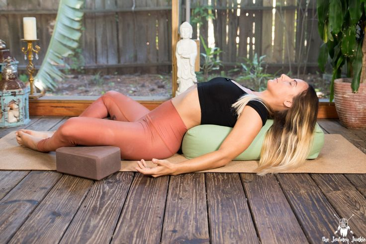 The FIVE BEST Restorative Yoga Poses: Reduce Stress & Relieve Tension - Pin now, practice restorative yoga right now!