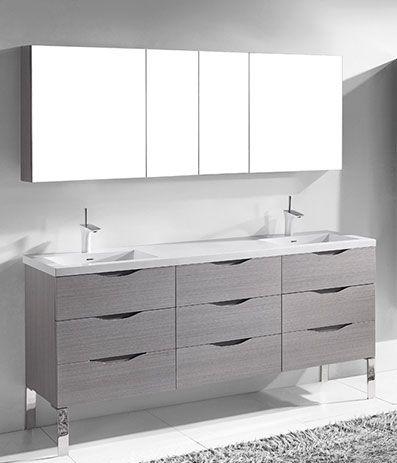 Milano Ash Grey   Modern Bathroom Furniture