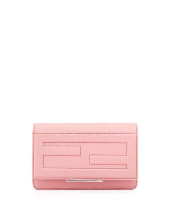 Leather Tube Wallet on a Chain, Pink by Fendi at Bergdorf Goodman.