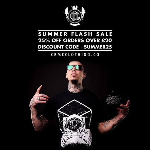 ☀️ CRMC FLASH SALE ☀️ 🖤 25% OFF all orders £20 or more! 🖤 👉 Use discount code - SUMMER25 - at the checkout 👈 Shop on at www.crmcclothing.co | WE SHIP WORLDWIDE #alt #altwear #altfashion #altstyle #fashion #fashionstatement #fashiongram #fashionista #lastchance #cheapdeals #flashsale #fashionoftheday #dailyfashion #summerfashion #summerdeals #deals #summerdeals #streetwear #streetwearclothing #alternativeguy #alternativeboy #alternativegirl #alternativeteen #sale #summersale #sales