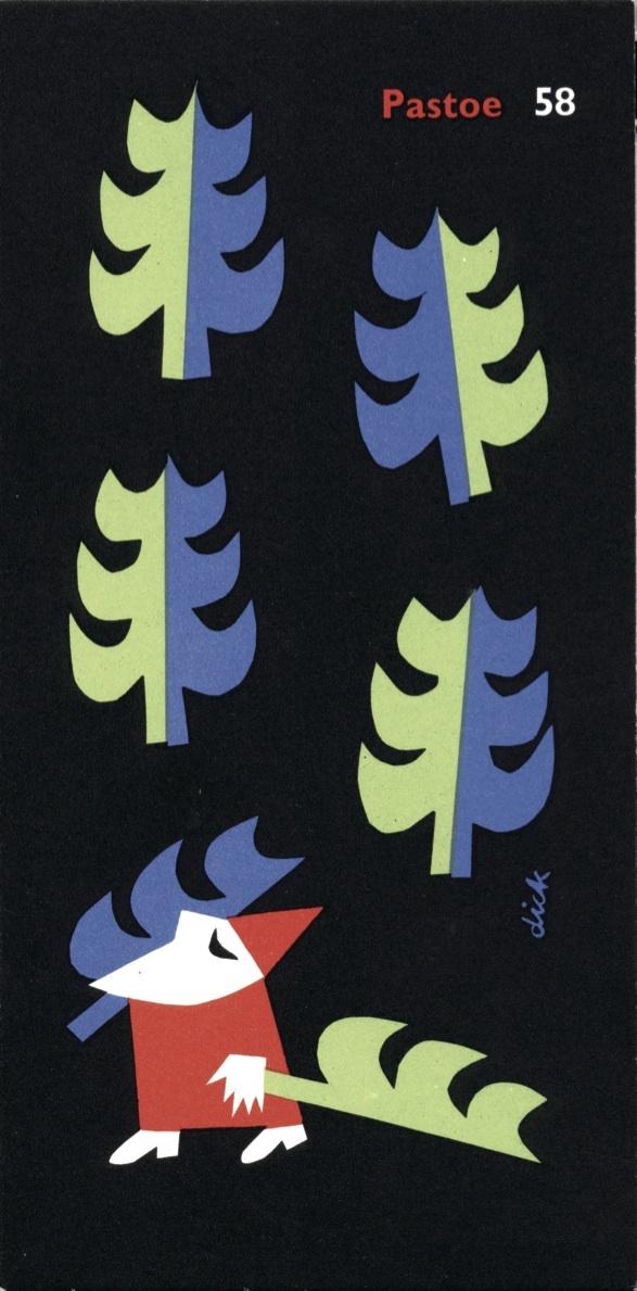 Pastoe New Years Card, 1958