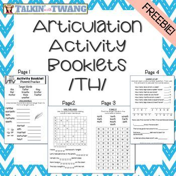 FREE Are you looking for a way to make articulation practice fun? These activity booklets are just what you need!
