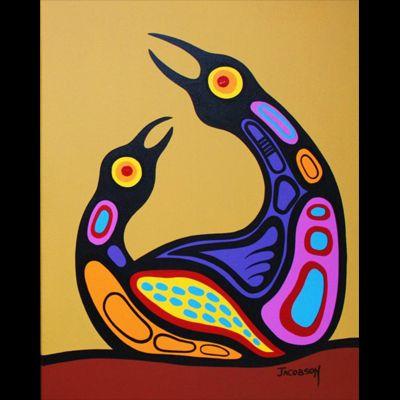 "Mark Anthony Jacobson, Inuit artist, ""Family"""