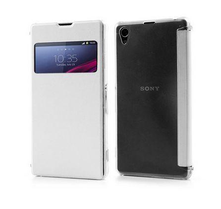 Quick View Flip Case Λευκό - (Sony Xperia Z1) BULK - myThiki.gr - Θήκες Κινητών-Αξεσουάρ για Smartphones και Tablets - Χρώμα Λευκό