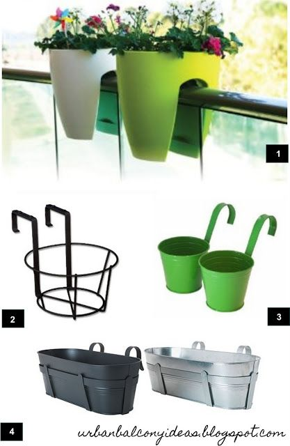 Urban Balcony Garden Ideas: Rail Balcony Planters