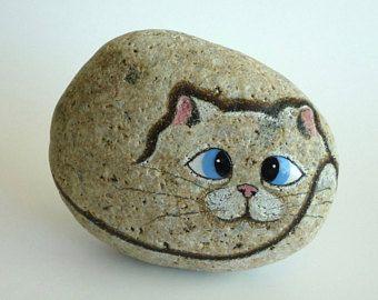 Dwergpapegaaien Rock Stone geschilderd gelakt kiezel kunst