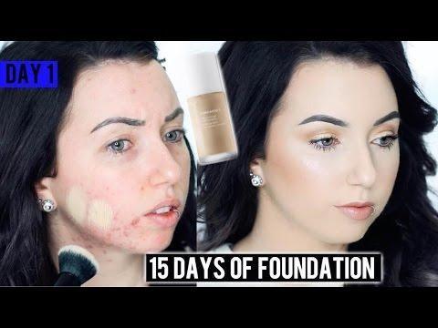 NATASHA DENONA FOUNDATION X Acne/Pale Skin {First Impression Review & Demo!} 15 DAYS OF FOUNDATION
