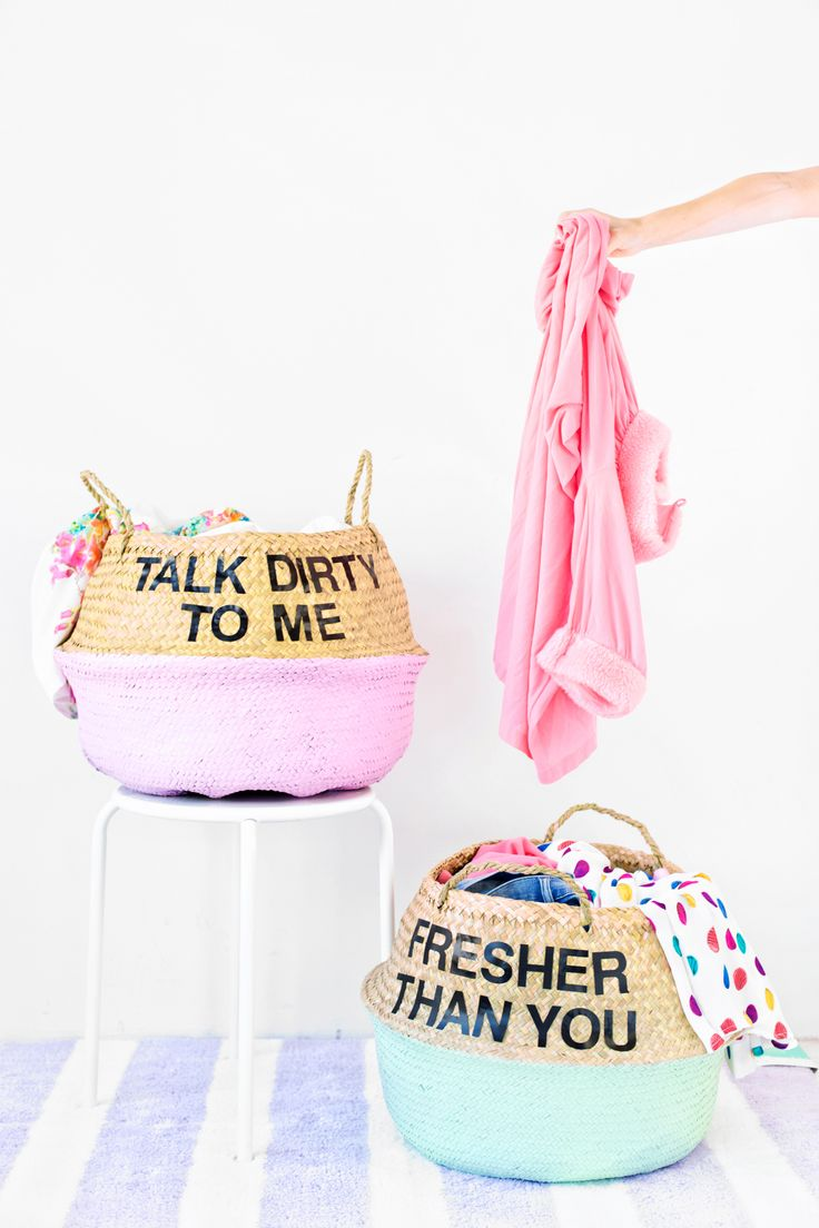 DIY Graphic Laundry Baskets More