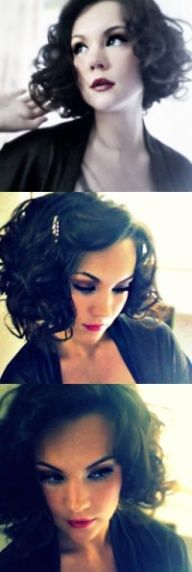 Add a headband for a little glam and it's a curled bob