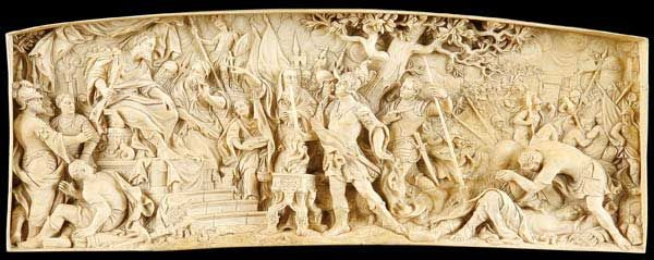 Th century south german carved ivory relief panel